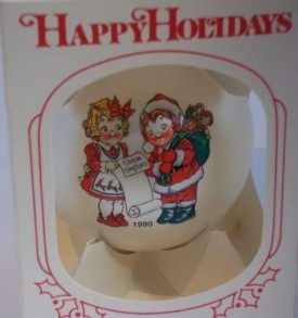 Campbell's Soup 1990 Collector's Edition White Glass Ball Ornament