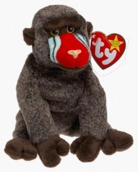 TY Beanie Baby - Cheeks the Baboon (1999) Retired