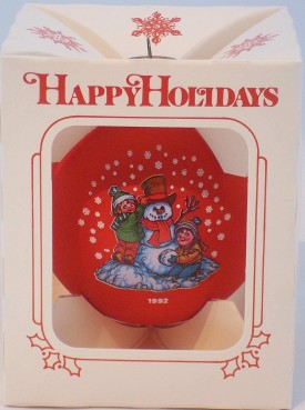 Campbell's Soup 1992 Collector's Edition Red Glass Ball Ornament
