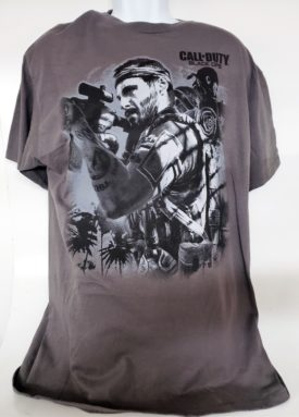 Call of Duty Black Ops Short Sleeve T-shirt Adult Size Small Grey