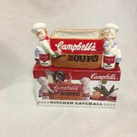 "Vintage 1997 Campbells Soup Ceramic Kitchen Catchall 9"" x 4"" x 4"""