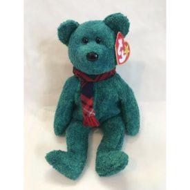 Ty Beanie Baby - Wallace the Green Irish-Scottish Bear (1999)