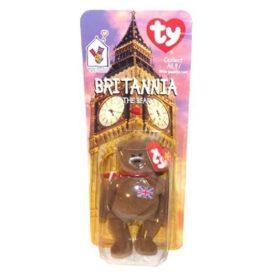 TY McDonald's Teenie Beanie - BRITANNIA The Bear British (1999) (5 inch)