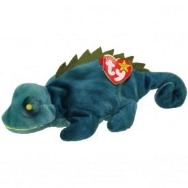 TY Beanie Baby - IGGY the Iguana (dark fabric w/ spikes)