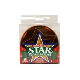 Global Decor Copper-Plated Star Cookie Cutter Set, 3 Piece Set