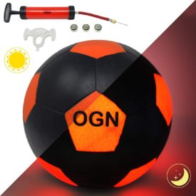 DYNASTY TOYS Outdoor Games at Night | LED Soccer Ball with Pump and Bag - Light Up The Night with The Glow in The Dark Soccer Ball (Button Activated)