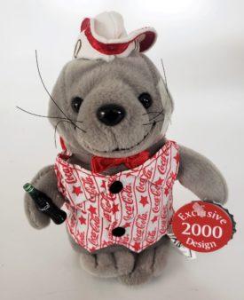2000 Collectible Coca-Cola Brand Bean Bag Plush - Walrus Soda Jerk