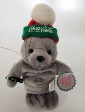 1997 Collectible Coca-Cola Brand Bean Bag Plush - Walrus In Knit Cap