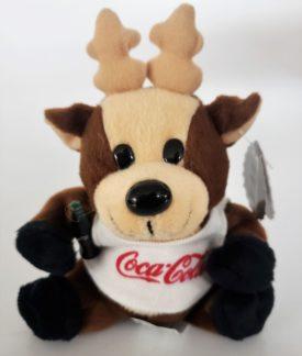 1997 Collectible Coca-Cola Brand Bean Bag Plush - Reindeer In Coca-Cola Tank Top