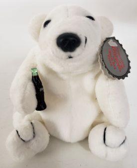 1997 Collectible Coca-Cola Brand Bean Bag Plush - Polar Bear With Coke
