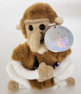 1999 International Collection Collectible Coca-Cola Bean Bag Plush -Neppy The Proboscis Monkey Thailand