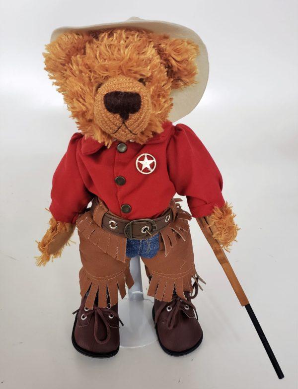 "10"" Genuine Handmade Teddy Bear Sheriff By Pieces of History"