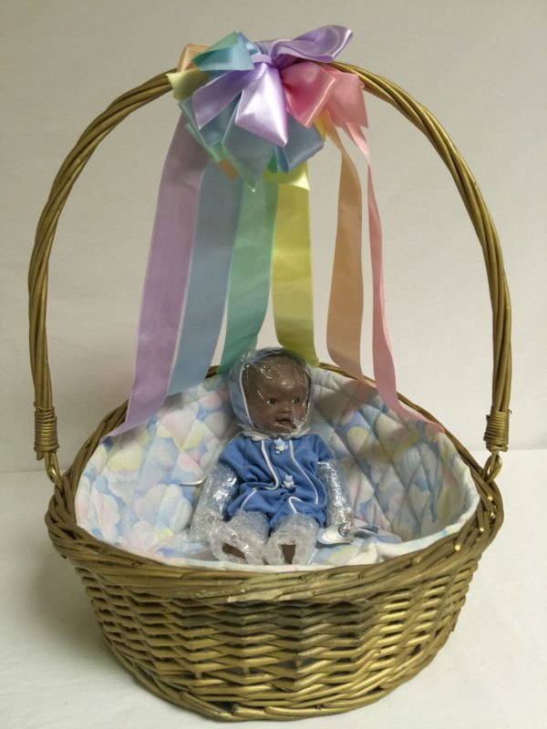 """Vintage 1994 The Ashton-Drake Galleries Rainbow of Love  """"Baby Blue Sky"""" African-American Baby Boy Doll 11"""""""