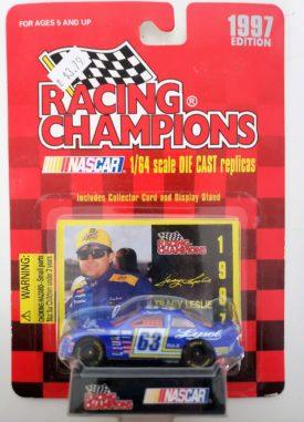 NASCAR #63 Tracy Leslie Lysol Pontiac Grand Prix 1997 Racing Champions 1:64 Diecast