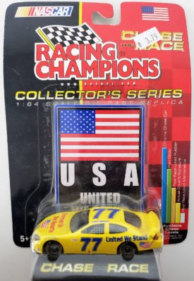NASCAR #77 USA United We Stand Forever In Our Hearts Ford Taurus 2001 Racing Champions 1:64 Diecast