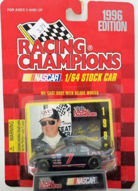 NASCAR #7 Geoff Bodine QVC Ford 1996 Racing Champions 1:64 Diecast