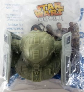 Star Wars Episode III Revenge of the Sith 2005 Burger King Toy - Darth Vader's TIE Fighter