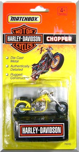 Matchbox Harley Davidson Chopper Yellow Diecast
