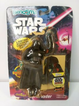 1993 JusToys Star Wars BendEms Darth Vader #12361 Poseable Action Figure with Card