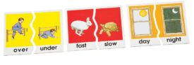 Didax Opposites Antonyms Matching Puzzle Card Set