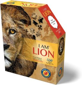Madd Capp Puzzles - I AM Lion - 550 pieces - Animal Shaped Jigsaw Puzzle