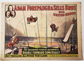 Original Vintage Retro Circus Poster - Adam Forepaugh & Sells Bros - 1960 Circus World Museum