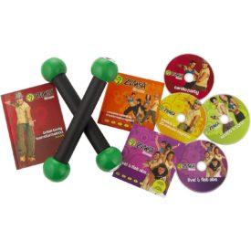 Zumba Fitness Total Body Transformation System DVD Set With Maraca-Like Toning Sticks