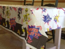 Power Rangers Vintage 1995 'Mighty Morphin' Paper Table Cover
