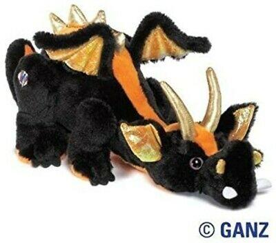 Ganz Webkinz Retired Plush Black Lava Dragon HM463 New w/sealed Code