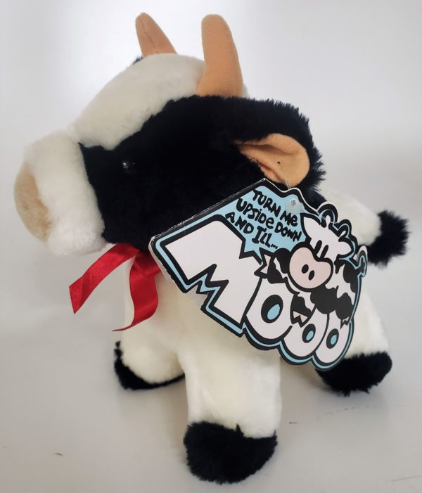 """Jerry Elsner Co Plush Cow With Moo Sound 8"""""""
