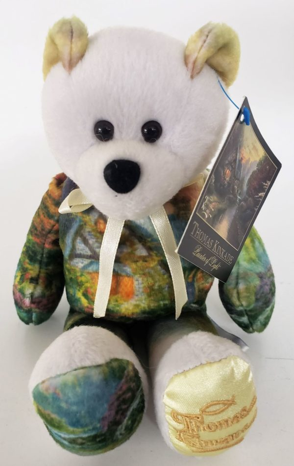 """2003 Thomas Kinkade Beanie Bear Gallery Treasures Collections """"A Quiet Evening"""" #002"""