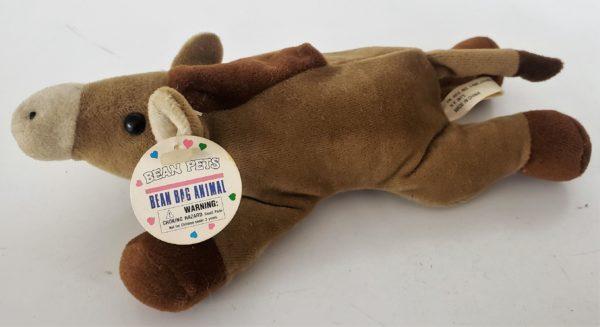 """Bean Pets Brown Horse Laying Down 8.5"""" Bean Bag Plush"""