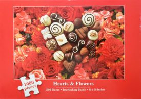 Hearts & Flowers 1000 Piece Puzzle  (Flowers and Chocolates) by Current