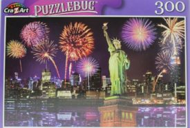 Puzzlebug Fireworks at Night, New York City 300 Piece Puzzle