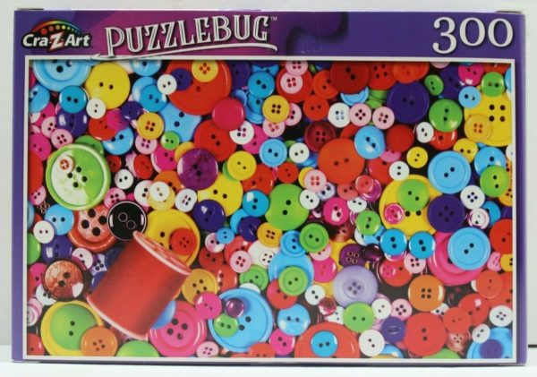 Puzzlebug Colorful Buttons and Thread 300 Piece Puzzle