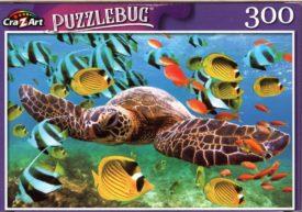 Puzzlebug Green Sea Turtle Cruising in the Ocean 300 Piece Puzzle