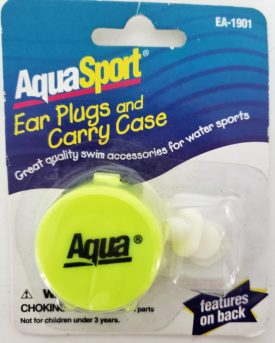 Aqua Leisure Ear Plugs with Carry Case Yellow