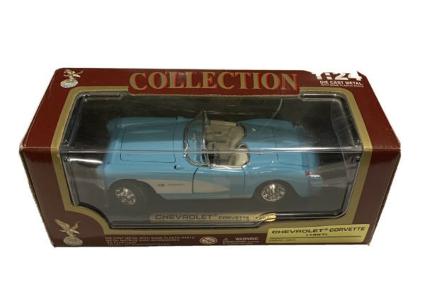 1957 Chevrolet Corvette Convertible Baby Blue with White by Road Tough 1:24