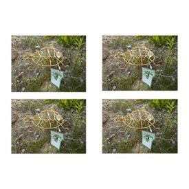 4-Pack: Outdoor Garden Copper Colored Turtle Spinner & Trellis Yard Art No. 715