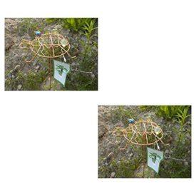 2-Pack: Outdoor Garden Copper Colored Turtle Spinner & Trellis Yard Art No. 715