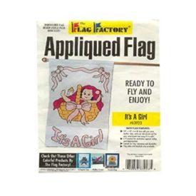 28 x 48 Its a Girl Appliqued Flag No. 63923