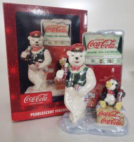 Coca-Cola Pearlescent Figurine Polar Bear Soda Jerk And Penguin Pause and Refresh Coke Machine