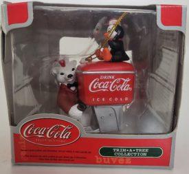 Coca-Cola Trim A Tree Soda Polar Bear Soda Jerk Fountain Machine Ornament