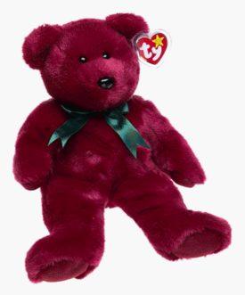 Ty Beanie Buddies - Cranberry Teddy
