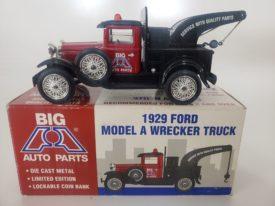 Big A Auto Parts 1929 Model A Wrecker Truck Coin Bank Liberty Classics Spec Cast