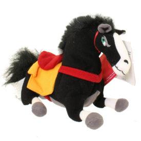 "The Disney Store 7"" Mini Bean Bag Plush - Kahn Horse From Mulan"