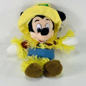 """The Disney Store 9"""" Mini Bean Bag Plush - Mickey Mouse Scarecrow"""