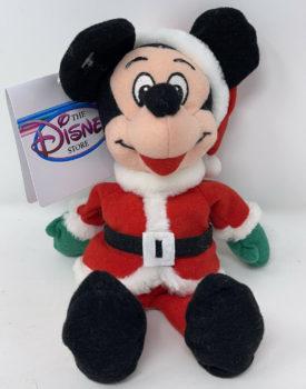 "The Disney Store 9"" Mini Bean Bag Plush - Santa Mickey Mouse"