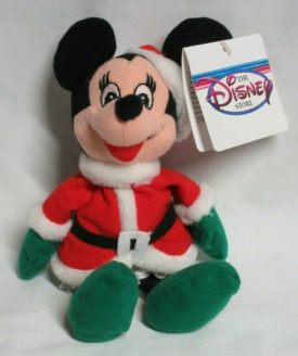 "The Disney Store 9"" Mini Bean Bag Plush - Mrs Santa Claus Minnie Mouse"