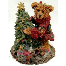 Boyds Bears Bearstone Resin Figurine Elliot & The Tree